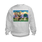 St Francis / Cocker (buff) Kids Sweatshirt