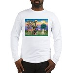St Francis / Cocker (buff) Long Sleeve T-Shirt
