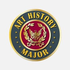 "Art History Major College Course 3.5"" Button"