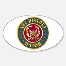 Art History Major College Course Oval Decal