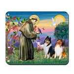 St Francis / Collie Pair Mousepad