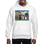 St Francis / Collie Pair Hooded Sweatshirt