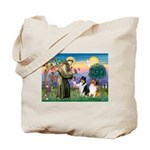 St Francis / Collie Pair Tote Bag