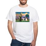 St Francis / Collie Pair White T-Shirt