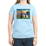 St Francis / Collie Pair Women's Light T-Shirt