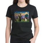 St. Francis & Collie Women's Dark T-Shirt