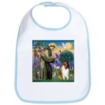 St. Francis & Collie Bib