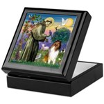 St. Francis & Collie Keepsake Box