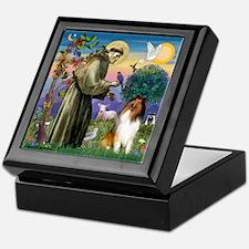 St. Francis & Collie Keepsake Box
