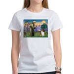 St. Francis & Collie Women's T-Shirt