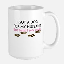 Man Vs. Dog Large Mug