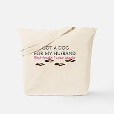Man Vs. Dog Tote Bag