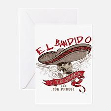 El Bandido Tequila Greeting Card