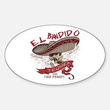 El Bandido Tequila Oval Decal