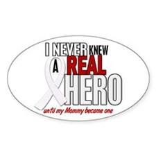 Never Knew A Hero 2 PEARL (Mommy) Oval Decal
