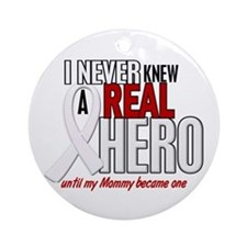 Never Knew A Hero 2 PEARL (Mommy) Ornament (Round)