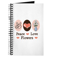 Peace Love Flowers Journal