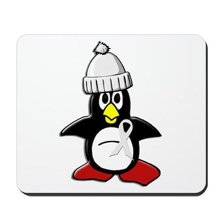Winter Penguin 1 (Pearl) Mousepad