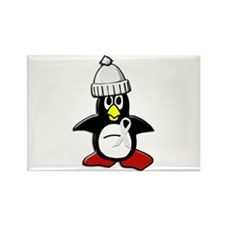 Winter Penguin 1 (Pearl) Rectangle Magnet