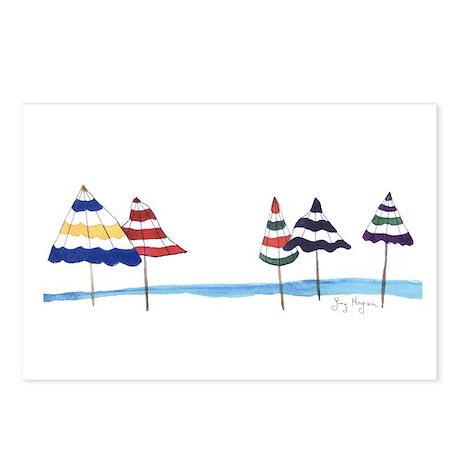 Beach Umbrellas Postcards (Package of 8)