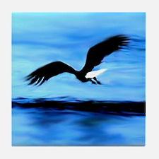 Surreal Eagle Soaring Over Water photo Tile Coaste