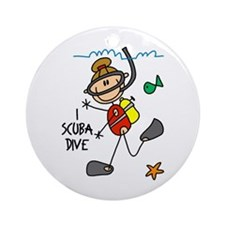 I Scuba Dive Ornament (Round)