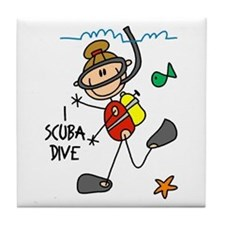 I Scuba Dive Tile Coaster