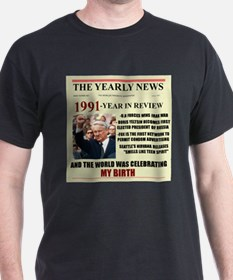 born in 1991 birthday gift T-Shirt