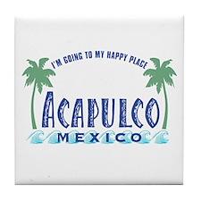 Acapulco Happy Place Tile Coaster