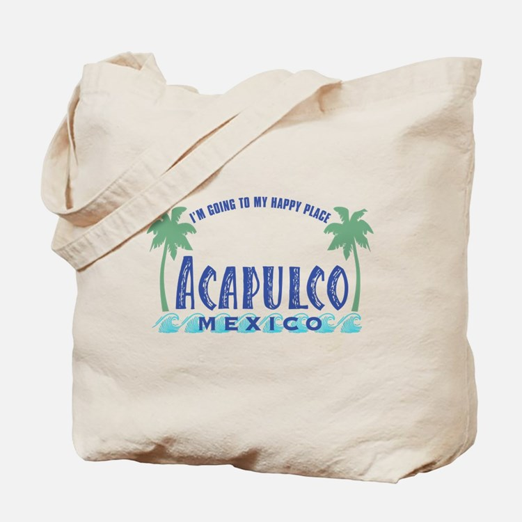 Acapulco Happy Place Tote or Beach Bag