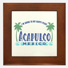 Acapulco Happy Place Framed Tile