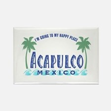 Acapulco Happy Place Rectangle Magnet