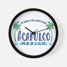 Acapulco Happy Place Wall Clock