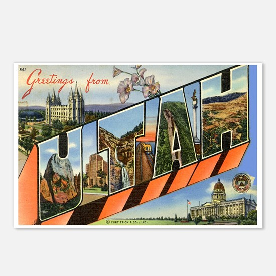 Utah UT Postcards (Package of 8)