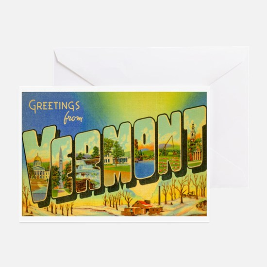 Vermont VT Greeting Cards (Pk of 20)