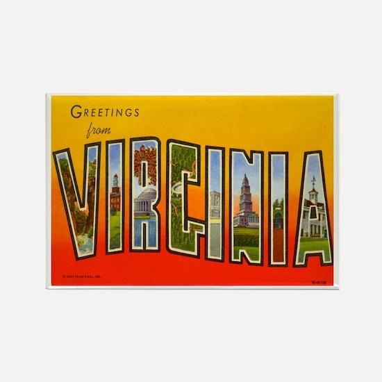Virginia VA Rectangle Magnet
