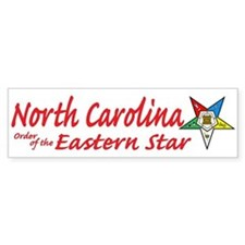 North Carolina Eastern Star Bumper Bumper Sticker