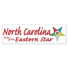 North Carolina Eastern Star Bumper Bumper Sticker