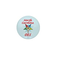 North Carolina Eastern Star Mini Button (10 pack)