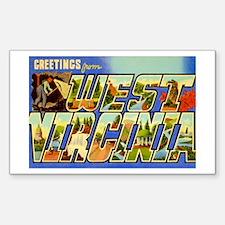 Washington WA Rectangle Sticker 50 pk)