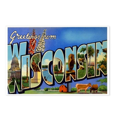 Wisconsin WI Postcards (Package of 8)