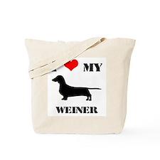 Cute I heart my dachshund Tote Bag