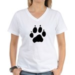 Wolf Paw Women's V-Neck T-Shirt