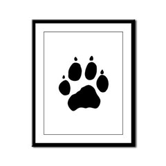 Wolf Paw Framed Panel Print