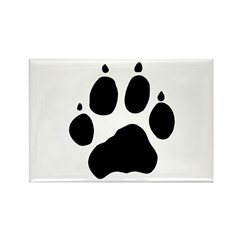 Wolf Paw Rectangle Magnet (100 pack)