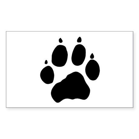 Wolf Paw Rectangle Sticker
