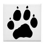 Wolf Paw Tile Coaster