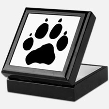 Wolf Paw Keepsake Box