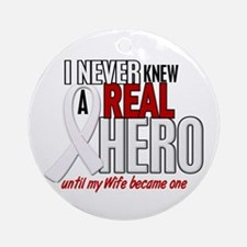 Never Knew A Hero 2 PEARL (Wife) Ornament (Round)