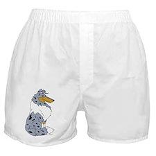 Blue Merle Rough Collie Boxer Shorts